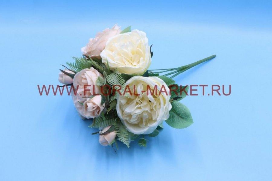 Б6214 Букет пионовидная роза с доб.h=45см.