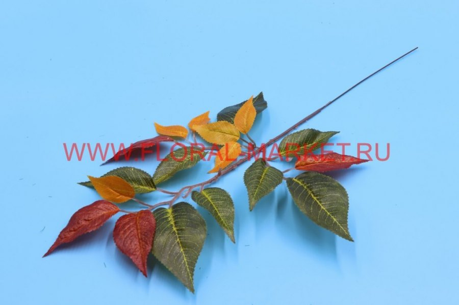 В5854 Ветка дерева фикуса осень малая h=51см.