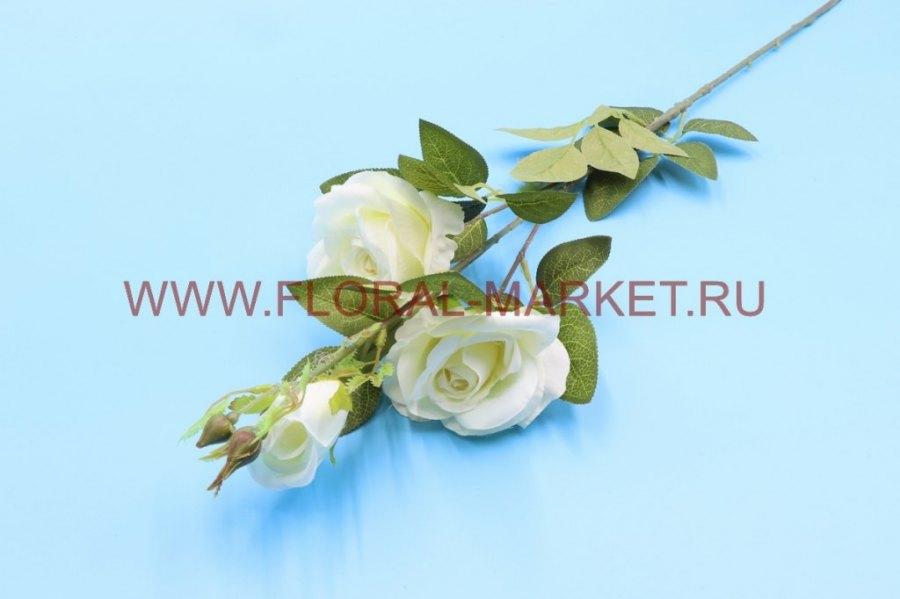 """В2730 Ветка роза """"Алмера"""" 2г+1б. h=90см."""