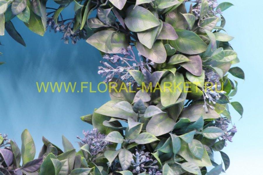 З4707 Венок декорат. лимонник цветущ.d=45см.