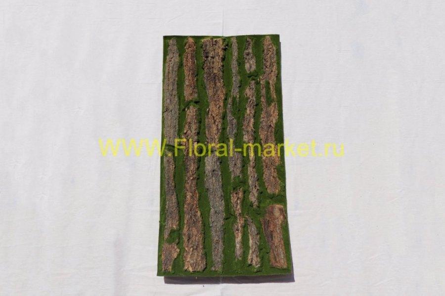 З1066 Панно из коры дерева и мха 100*50