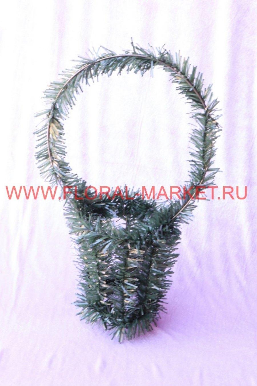 Фон Корзина свеча большая елка