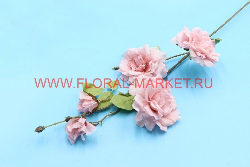 """В2768 Ветка роза """"Боня"""" 3г.+2б.+4пл.б.h=90см."""