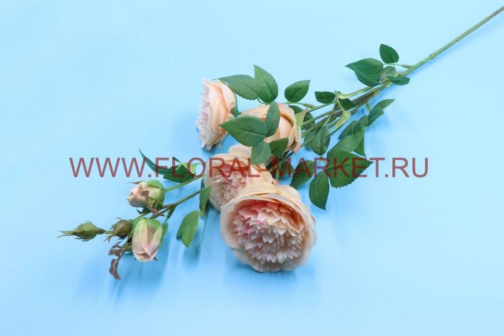 В2674 Ветка пионовидная роза h=95см.