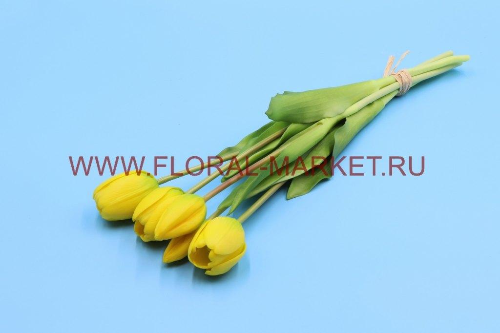 Б6268 Срез тюльпанов силикон 5в. h=40см.