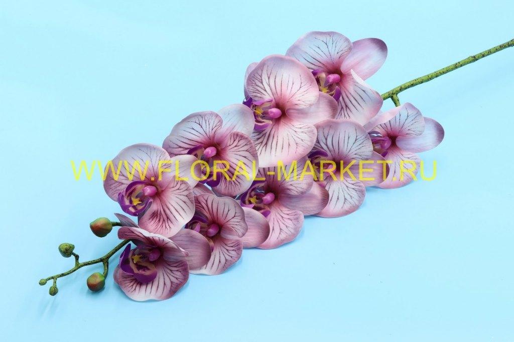 """В1032 Ветка орхидея силикон """"Клеопатра"""" h=97см."""