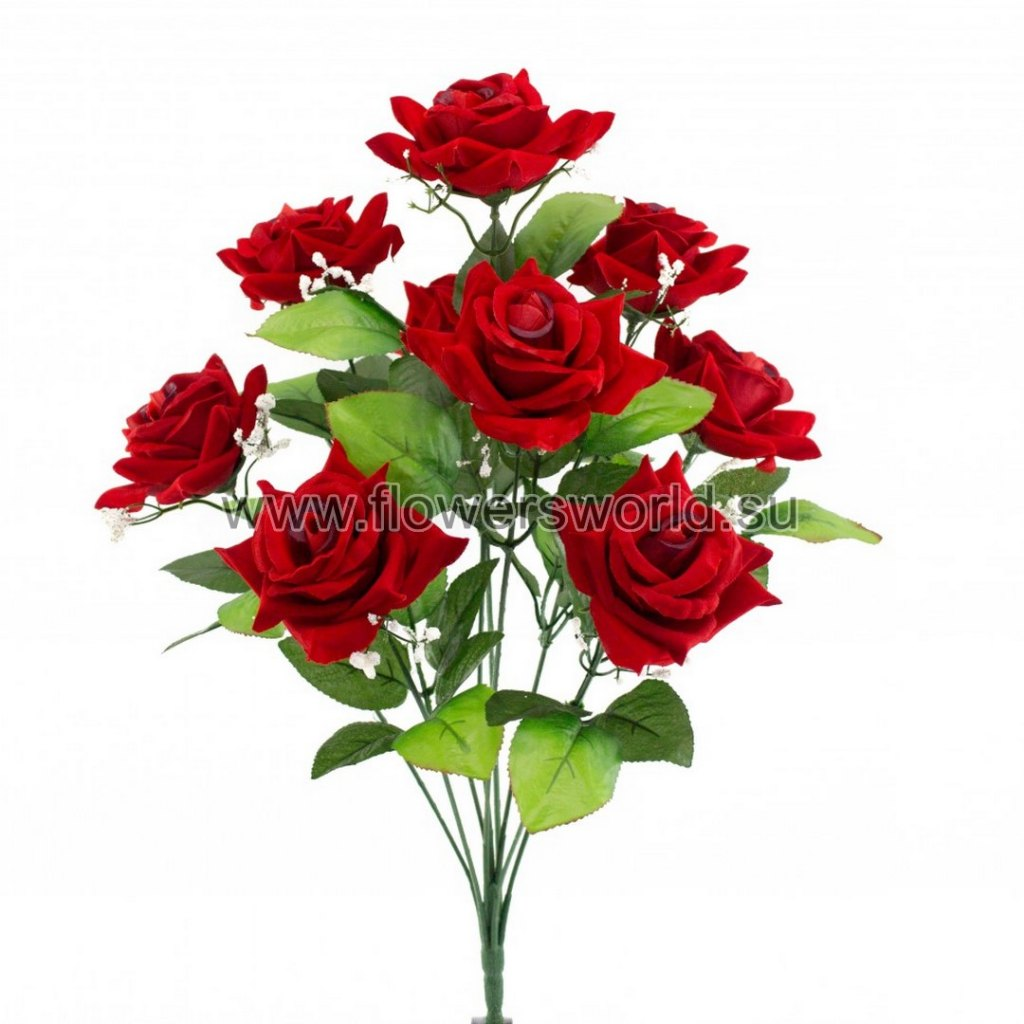 Б321 Букет роза бархат