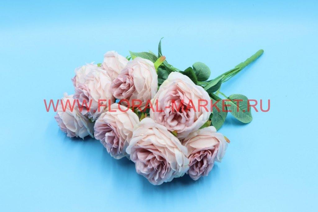 """Б6240 Букет пионовидных роз """"Брауни"""" 10г.h=45см."""