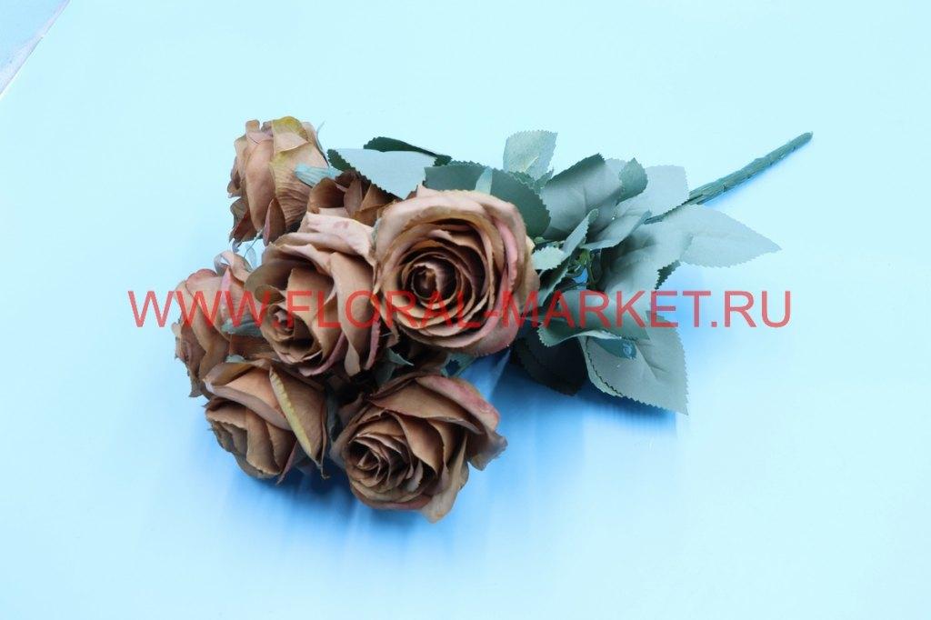 """Б6239 Букет бутонов роз """"Венера"""" 10г.h=45см."""