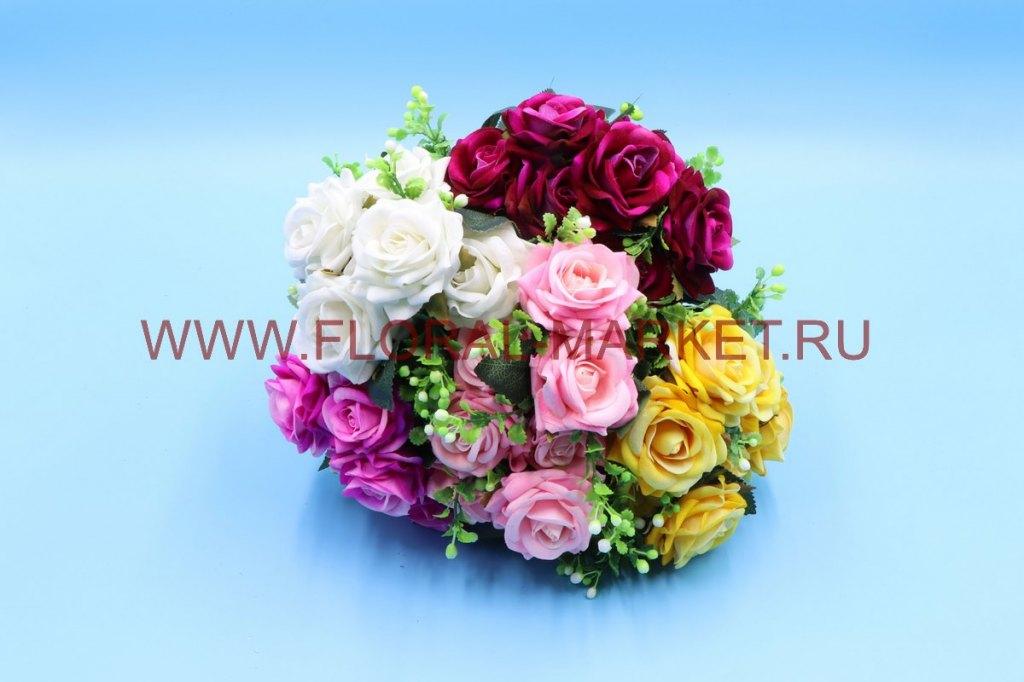 Б6241 Букет роза барх.острол.с доб.7г.h=30см.