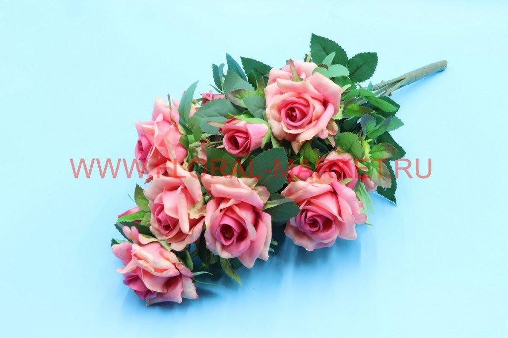 """Б6231а Букет роза каскад с бут. """"Рига"""" 16г. h-52см"""