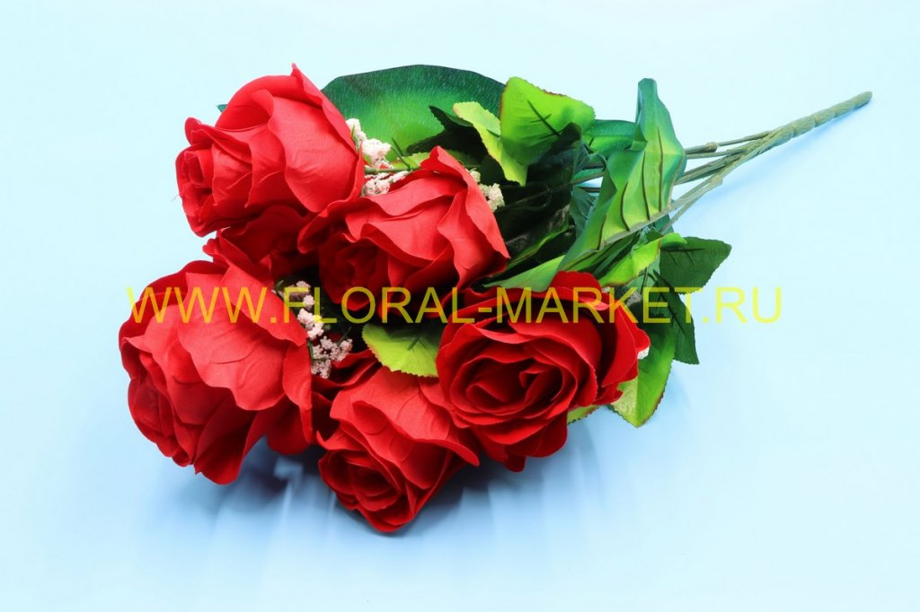 Б792 Букет роза бархат 7 гол.