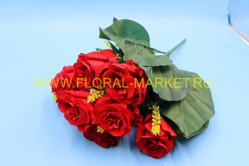 Б418 Букет роза бархат 13 гол.