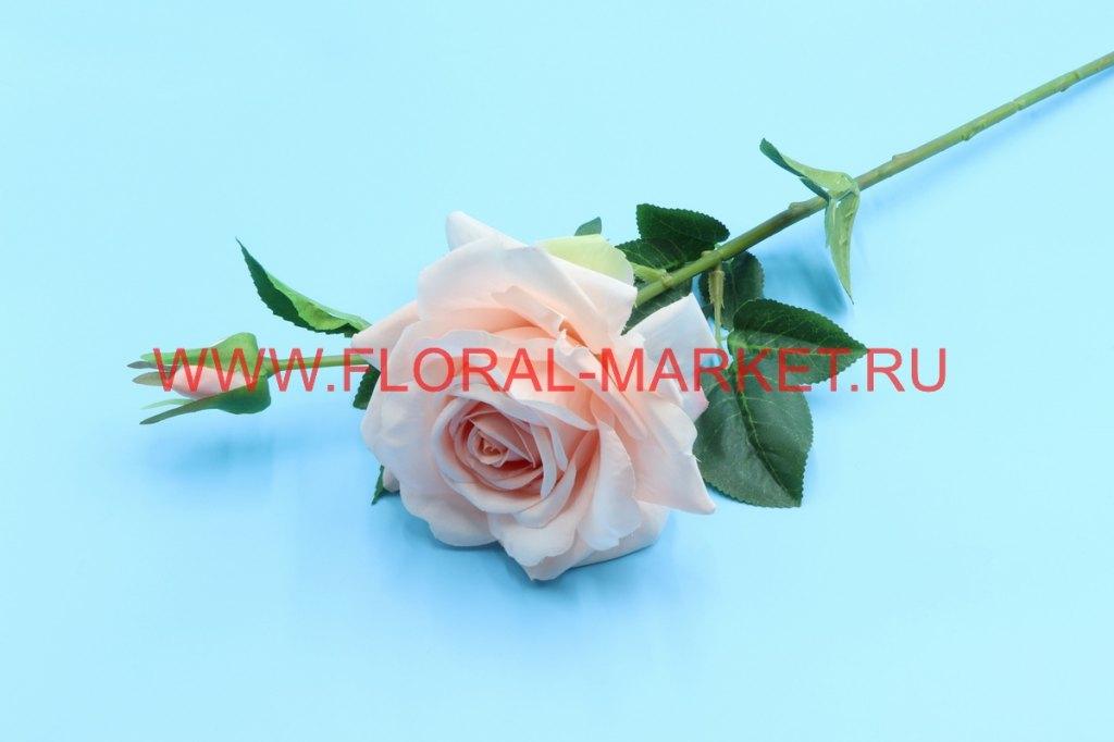 О1527 Одиночная роза с бутоном h=64см.