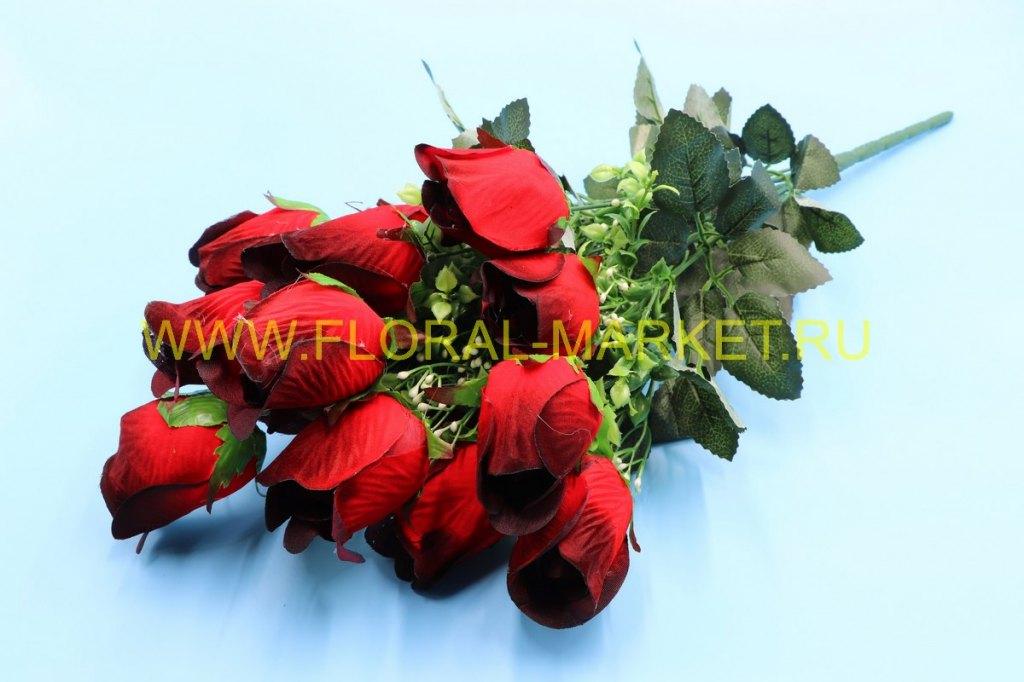 Б140 Букет роза бутон бархат 16 гол.h=62см.