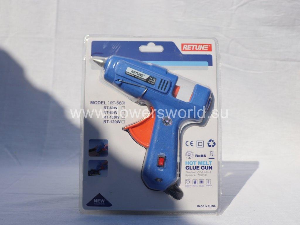 Пистолет термоклеевой RETUNE 60-100 W