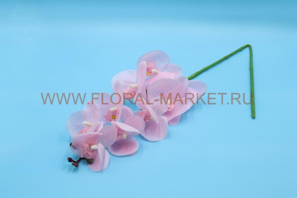 """В2632 Ветка орхидея силикон.""""Нерси"""" 9г.+5б.h=95см."""