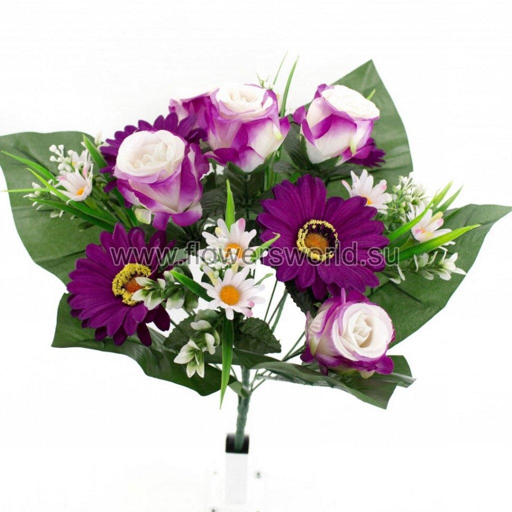 Б720 Букет роза с герберой