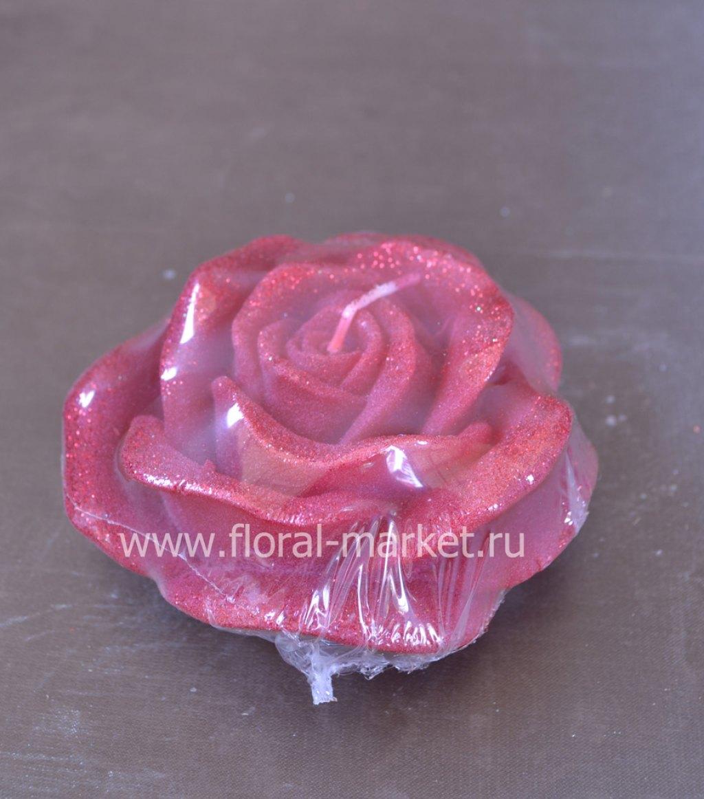 С0455 Свеча роза бордо
