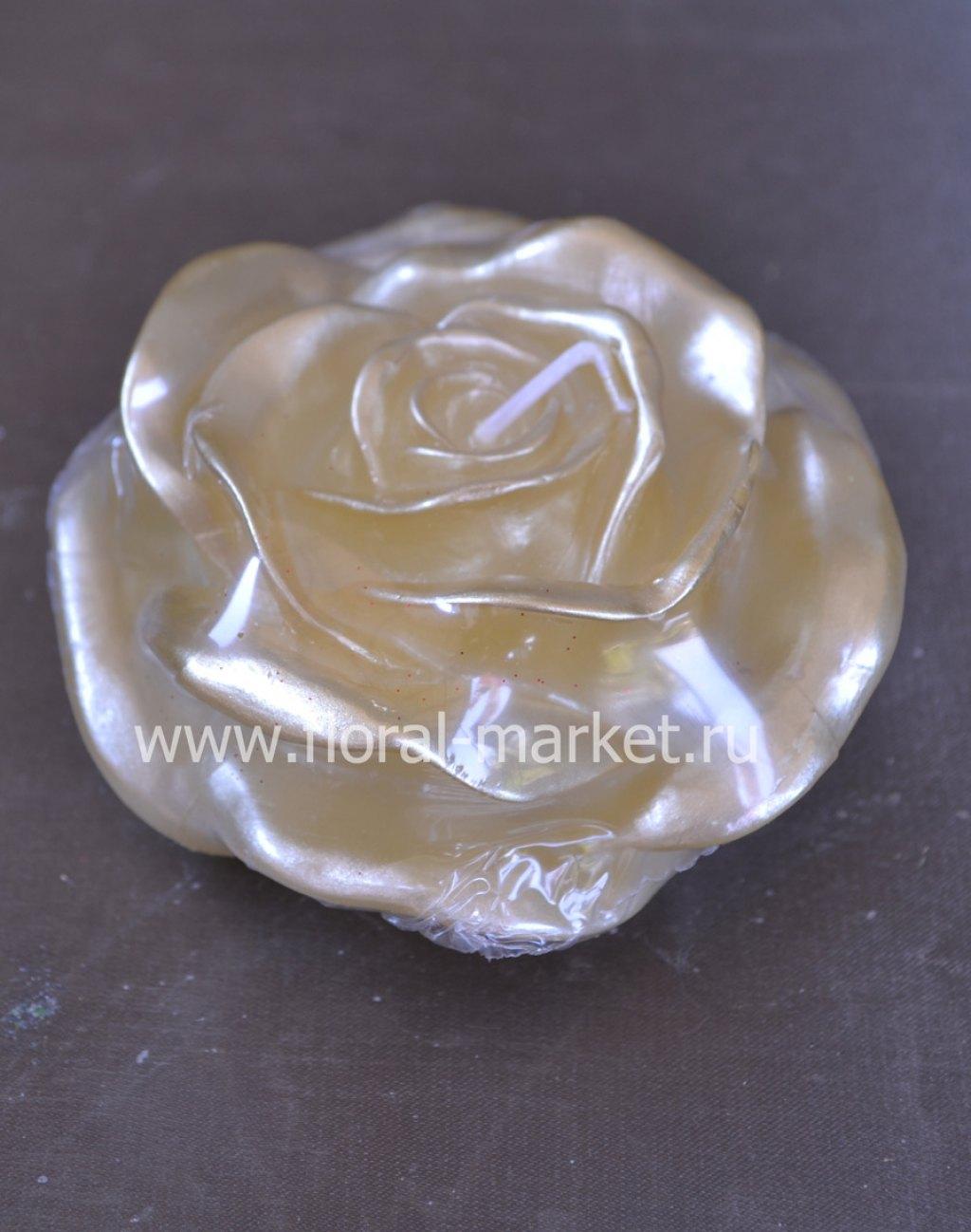 С3330 Свеча роза золотая