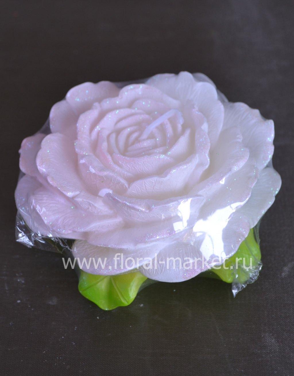 С2138 Свеча роза розовая ароматизированная