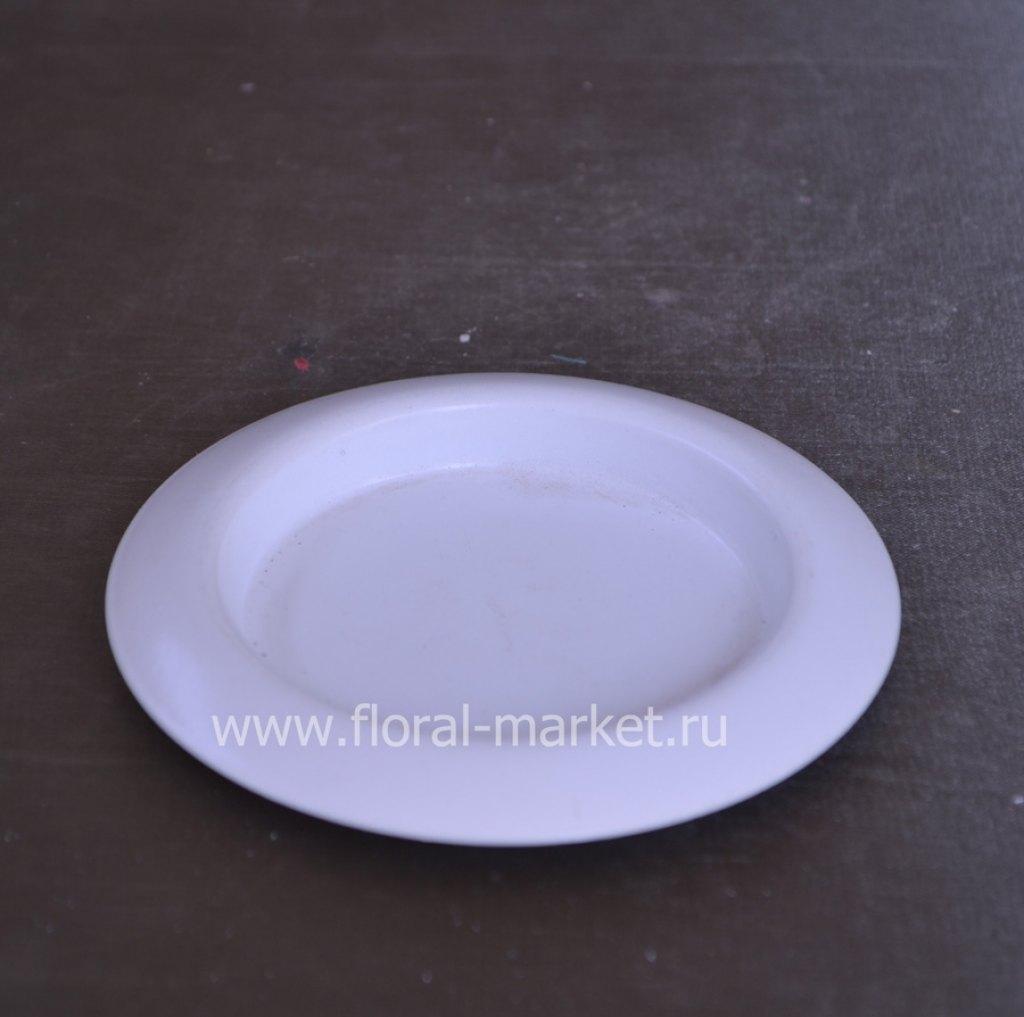С976020 Подсвечник чашка белый