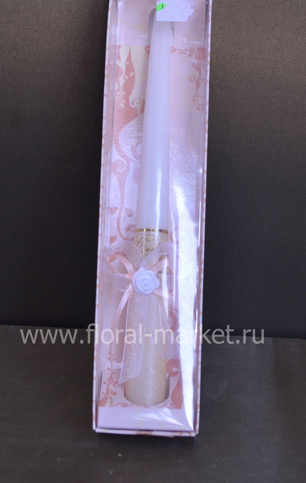 С7966 Свеча античная свадебная персиковая