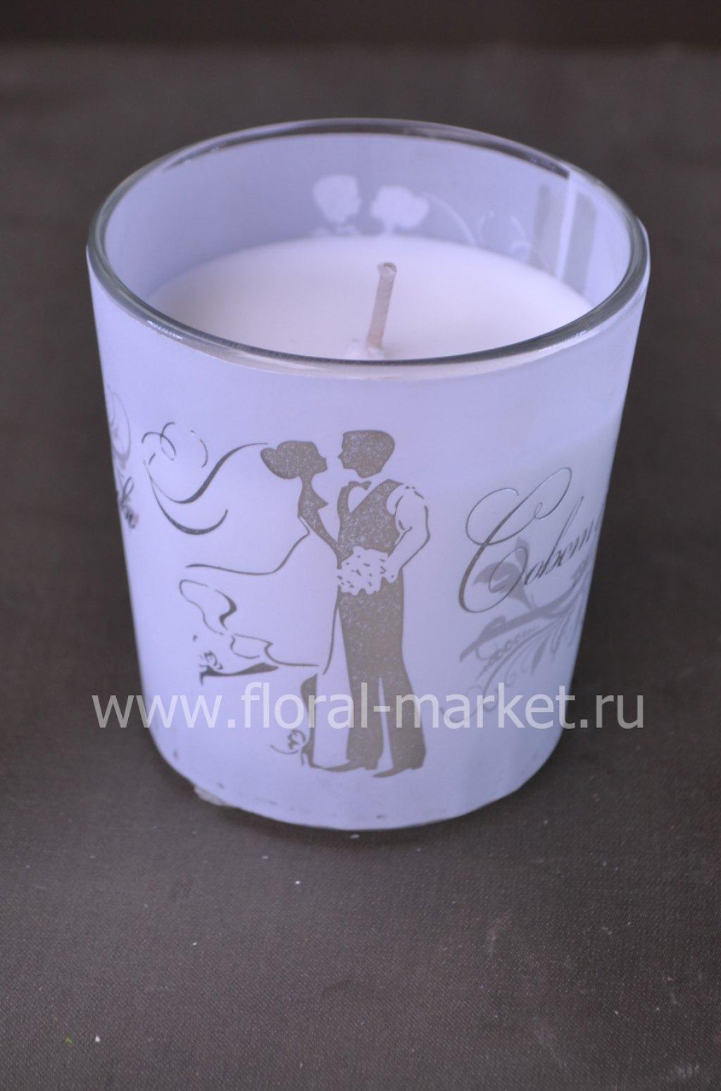 С7809 Свеча в стекле ароматизи молодожены Хамелеон