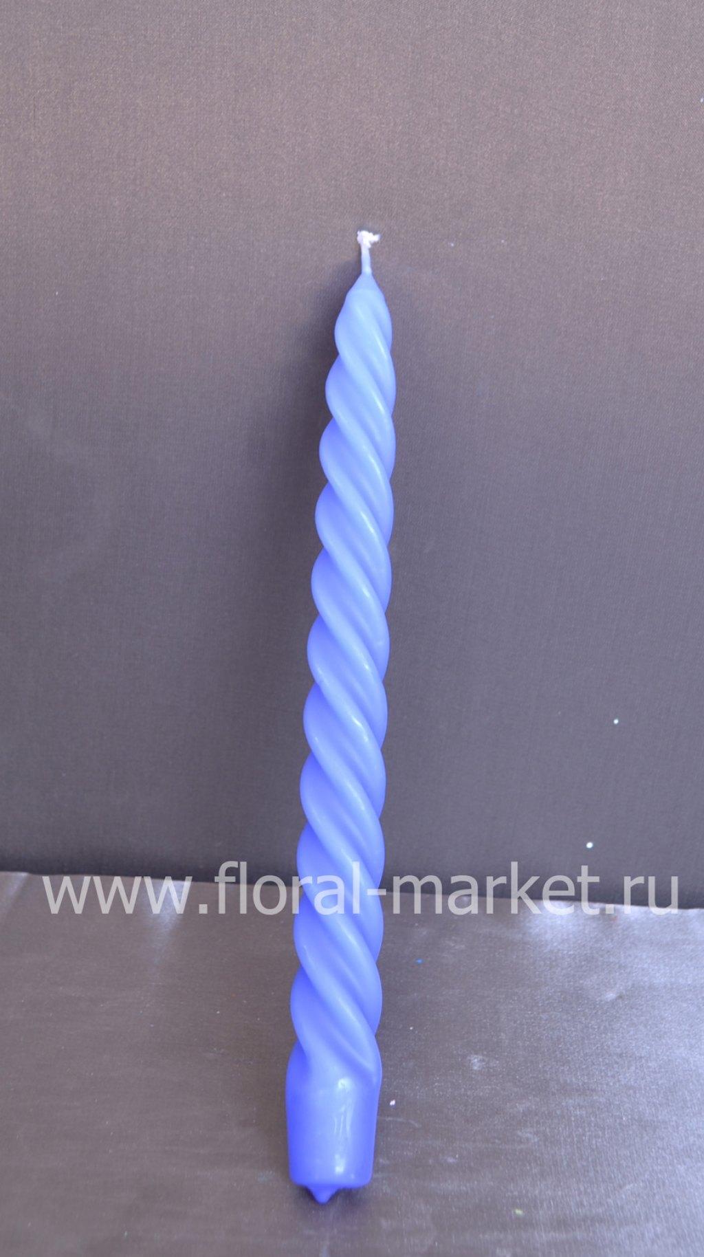 С8209 Свеча витая 12 шт голубая
