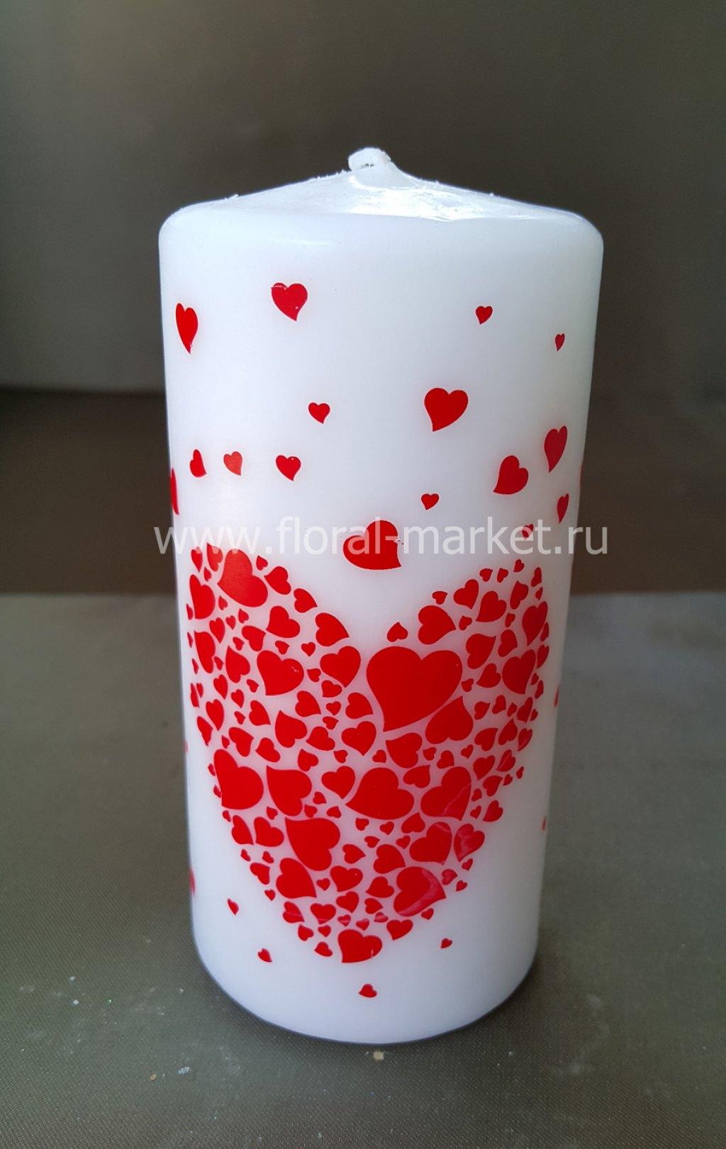 С6062 Пенек подарочный с сердечками