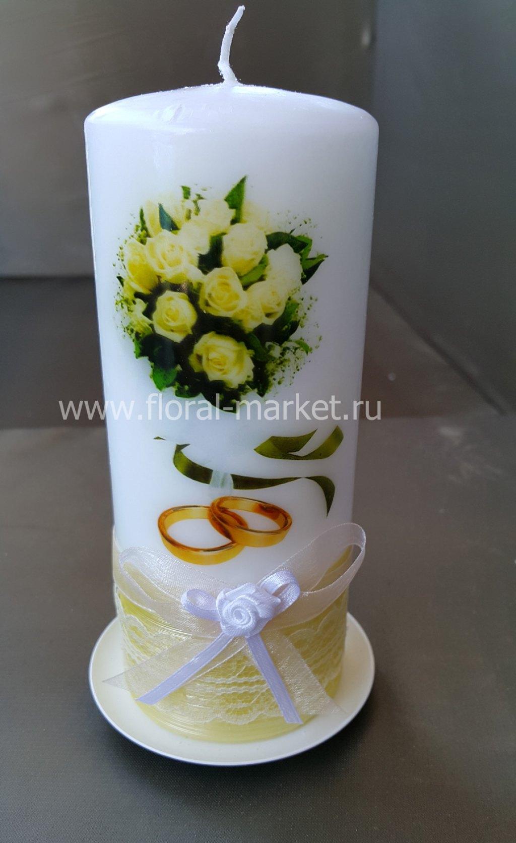 С7917 Свеча пеньковая букет невесты