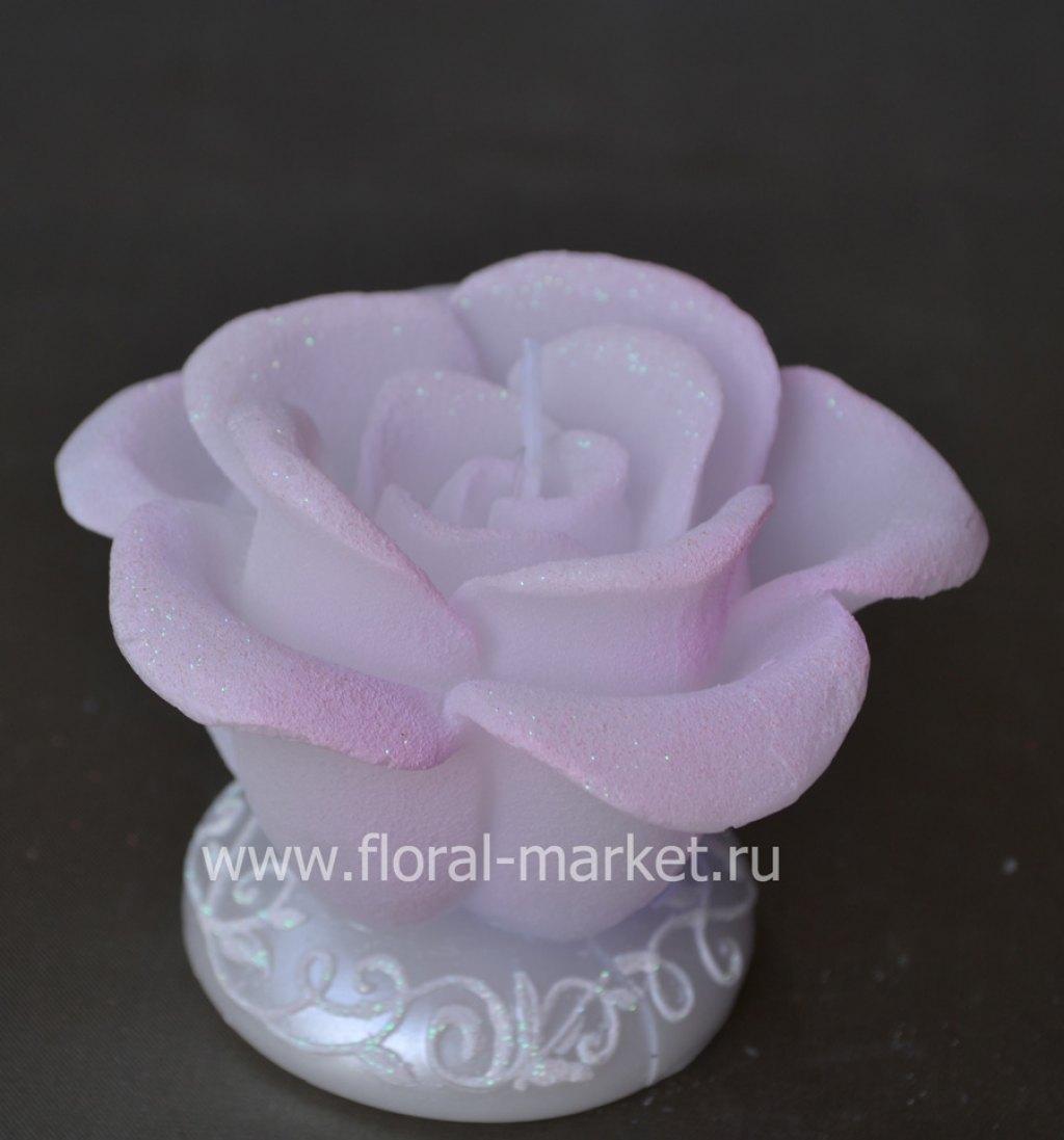 С3365 Свеча роза хамелеон