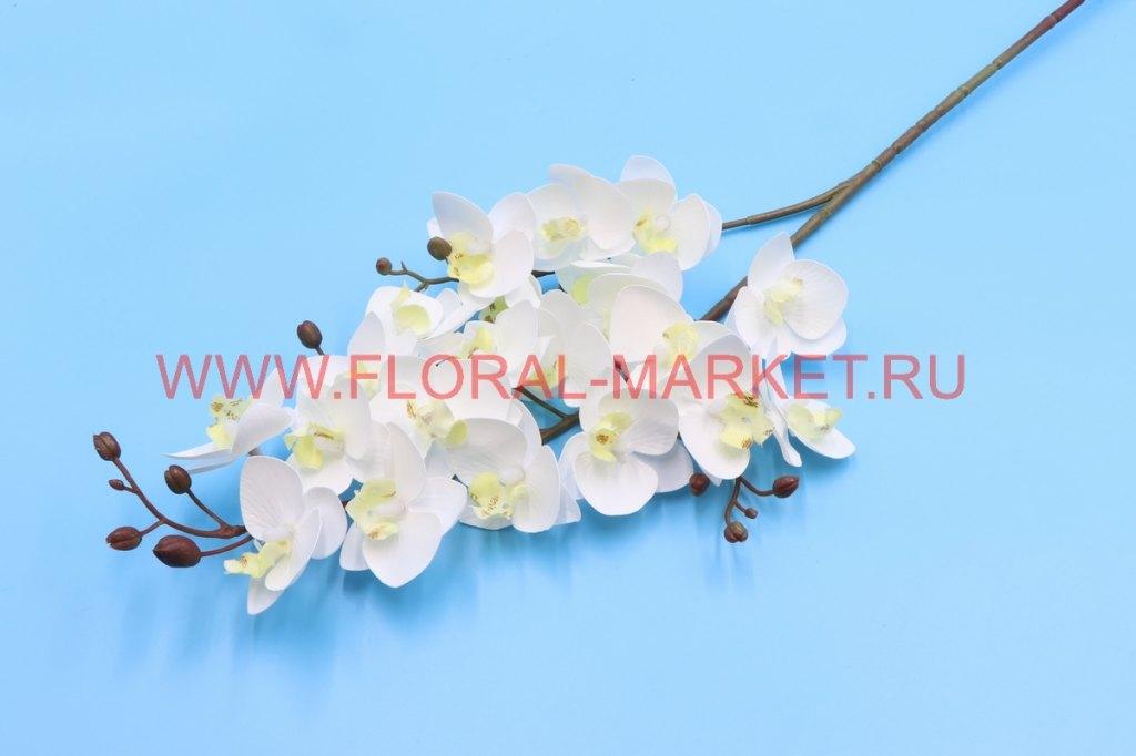 """В2609 Ветка орхидея мини """"Руна"""" 21г+17б.h -75см."""