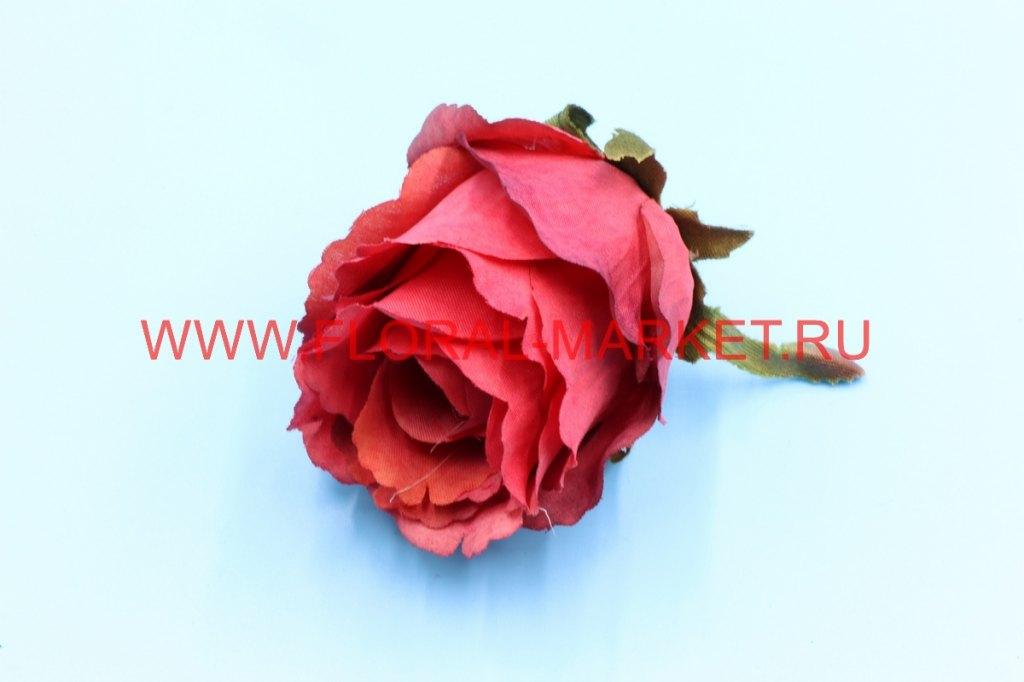 Г0363 Голова роза бутон малый кудрявый