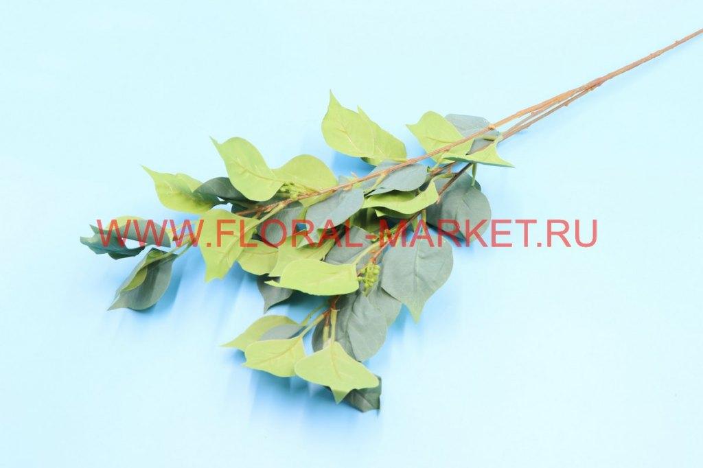 В2694 Ветка листья сирени h=85см.