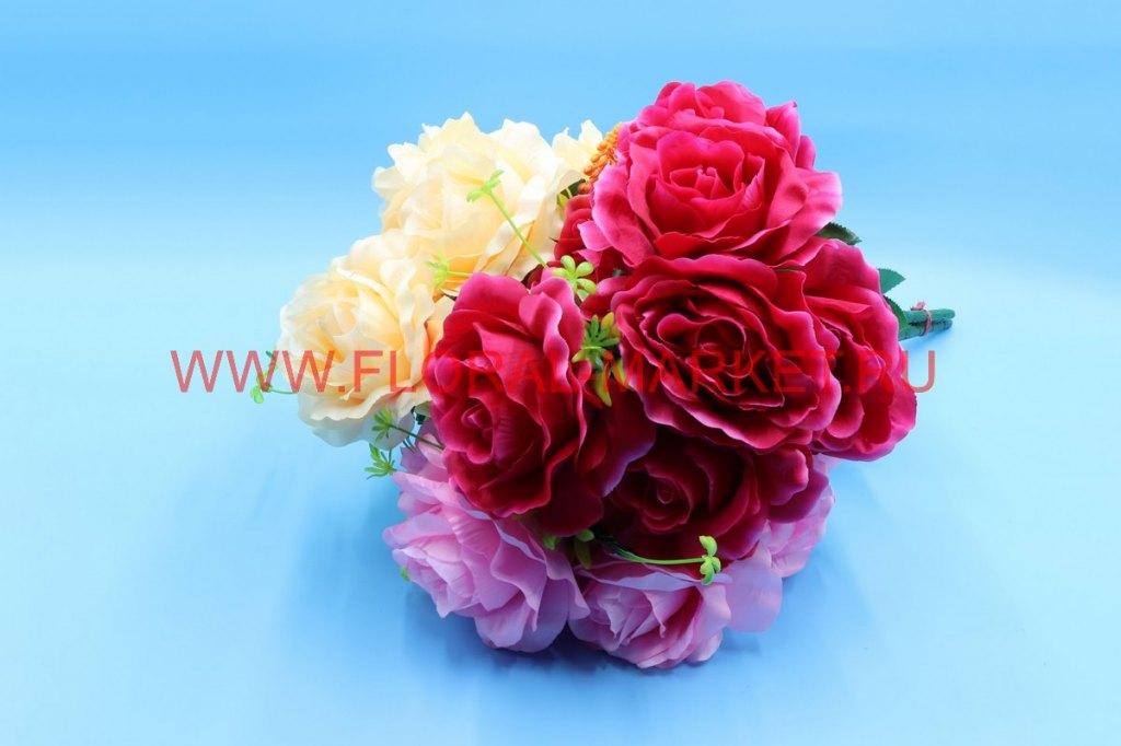 """Б7913 Букет роза с доб. """"Кантира"""" 7г. в.-60см."""