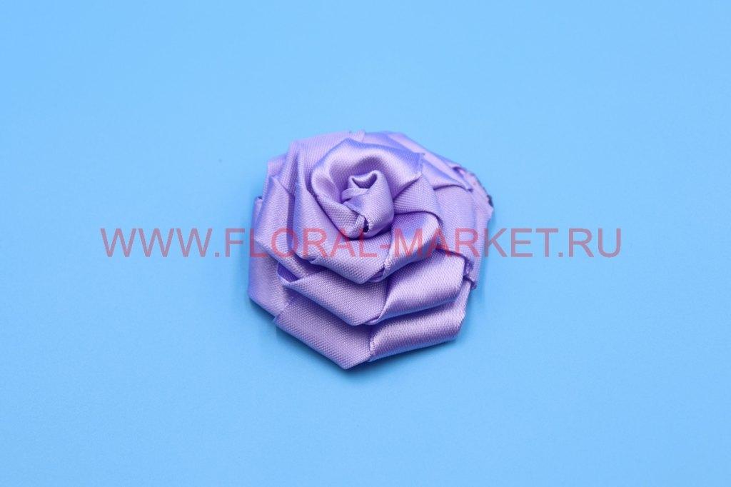 Розочка тканевая плоская 4см