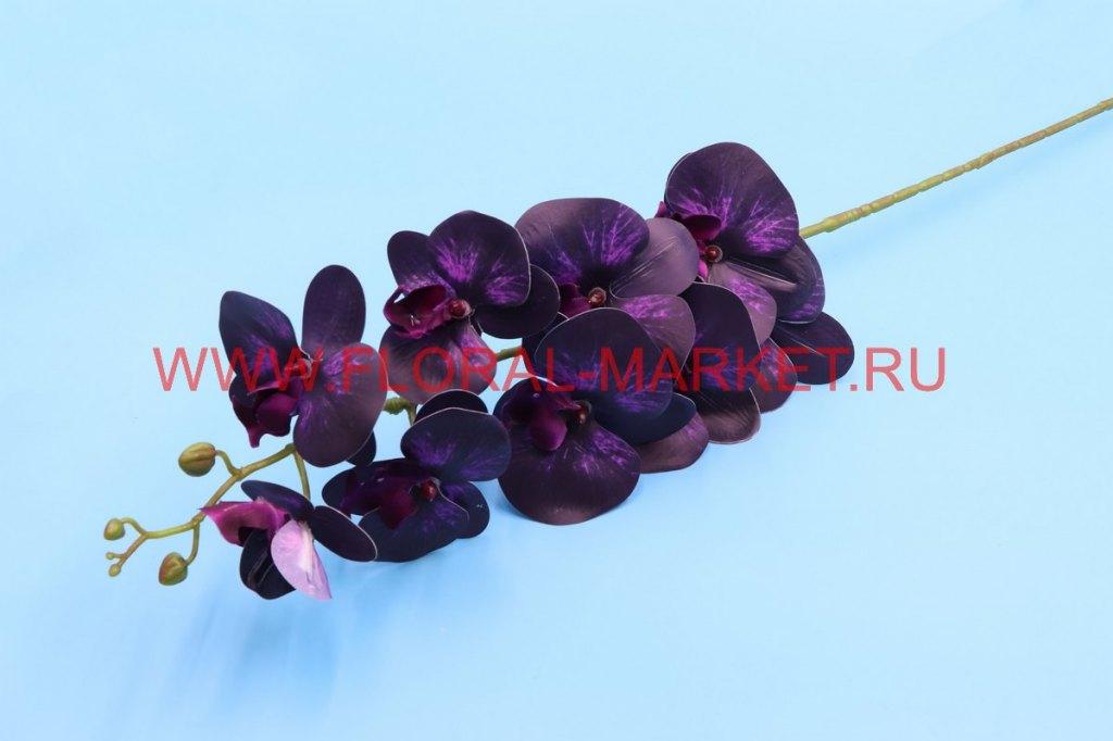 """В2325 Ветка орхидеи силикон """"Вельс"""" 7г.+5б.h=90см."""
