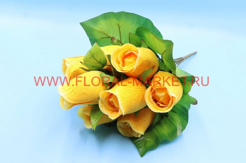 Б7154 Букет роза бокал 9г. в-54 см.