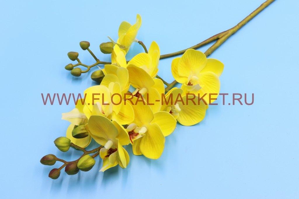 В2645 Ветка орхидеи двойная h=60см. силикон