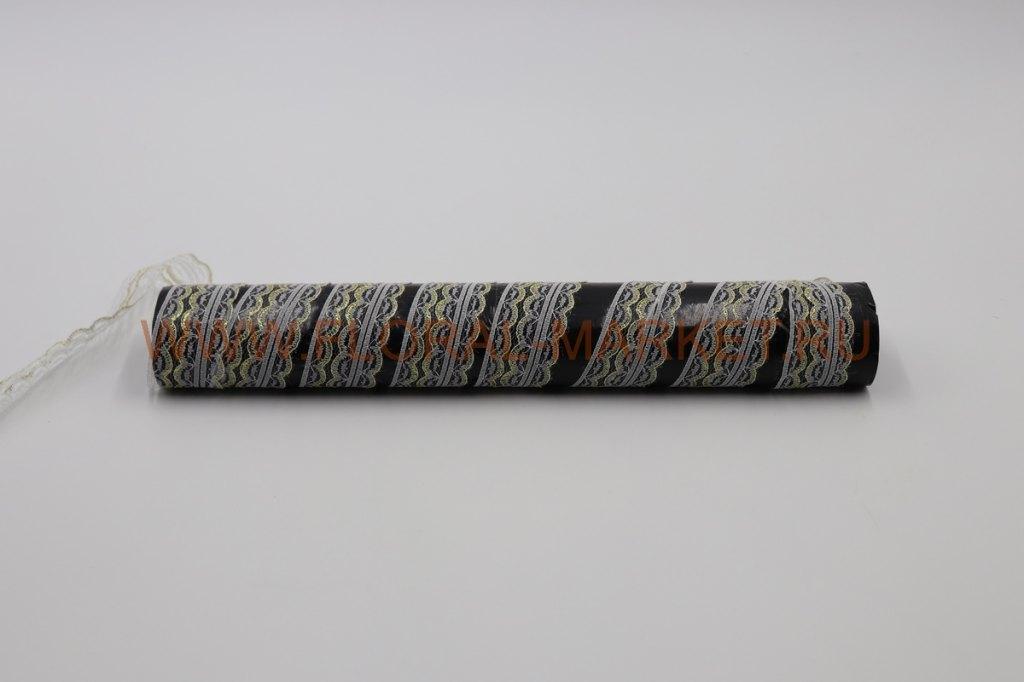 Кружево 4 см. белое/золото/серебро