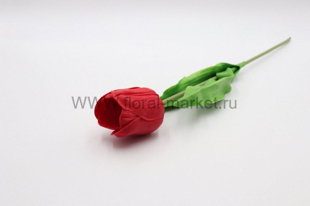 """О1518 Одиночный тюльпан """"Гай"""" в.-58см. силикон"""