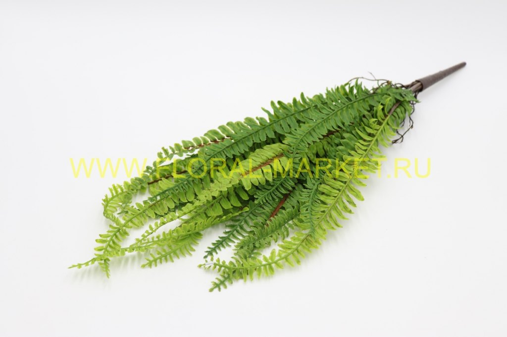 З4043 Куст лесного папоротника 21 листа (силикон)