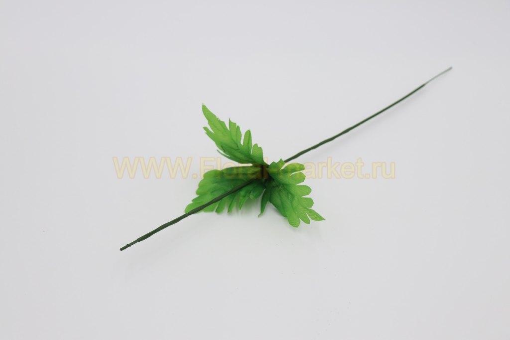 О1214 Нога с листом хризантемы/пиона h=45см.