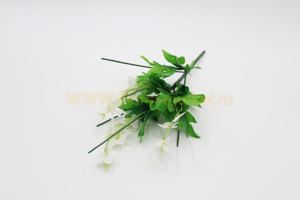 З5134а Ножка для букета 7 вет.с листьями и цветочк