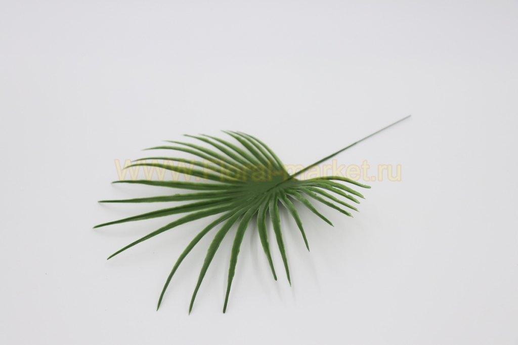 З322 Лист пальмы круглый малый h=35см.